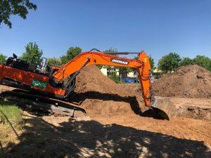 05-2020 Ausheben der Baugrube / 1