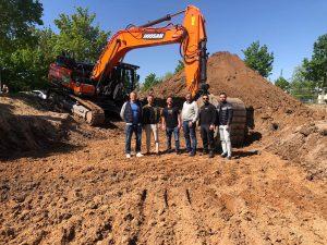 05-2020 Ausheben der Baugrube / 2